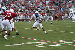 10 Sep 2005<br /> <br /> Scott Phaydavong appears to have plenty of room to run.<br /> <br /> Illinois State University V Drake.  Hancock Stadium, Illinois State University, Normal IL
