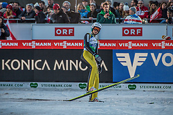 10.01.2015, Kulm, Bad Mitterndorf, AUT, FIS Ski Flug Weltcup, Bewerb, im Bild Gregor Deschwanden (SUI) // reacts after his Competition Jump of the FIS Ski Flying World Cup at the Kulm, Bad Mitterndorf, Austria on 2015/01/10, EXPA Pictures © 2015, PhotoCredit: EXPA/ Dominik Angerer
