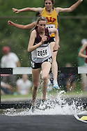 Hamilton, Ontario ---05/06/08--- Britney Allard of Theriault in Timmins competes in the steeplechase at the 2008 OFSAA Track and Field meet in Hamilton, Ontario..GEOFF ROBINS