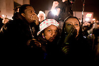 4 November, 2008. Harlem, New York, NY.<br /> <br /> Residents celebrate Presidential elect Senator Barack Obama`s win in the historic African American district of Harlem November 4, 2008 in New York City. Obama defeated Republican nominee Sen. John McCain (R-AZ) by a wide margin in the election to become the first African-American U.S. President elect.<br /> <br /> ©2008 Gianni Cipriano<br /> cell. +1 646 465 2168 (USA)<br /> cell. +1 328 567 7923 (Italy)<br /> gianni@giannicipriano.com<br /> www.giannicipriano.com