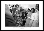 President John F. Kennedy meets his cousin Mary Ryan at Dunganstown, County Wexford.<br />