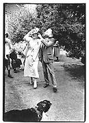 Sir Peregrine and Lady Waisthorne ( formally known as Lady Lucinda Lambston) at their wedding© Copyright Photograph by Dafydd Jones 66 Stockwell Park Rd. London SW9 0DA Tel 020 7733 0108 www.dafjones.com