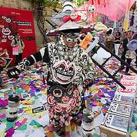 "VENICE, ITALY - JUNE 02:  Frog King Kwok China's first performance artist with the installation ""Frogtopia-Hongkornucopia"" at the opening of Hong Kong Pavillion on June 2, 2011 in Venice, Italy. This year's Biennale is the 54th edition and will run from June 4th until 27 November."