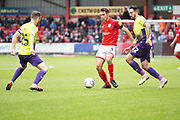 Crewe Alexandra defender Harry Pickering in possession of the ball during the EFL Sky Bet League 2 match between Crewe Alexandra and Exeter City at Alexandra Stadium, Crewe, England on 5 October 2019.