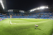 Stadium awaiting kick off before the Champions League round of 16 match between Manchester City and Dynamo Kiev at the Etihad Stadium, Manchester, England on 15 March 2016. Photo by Simon Brady.