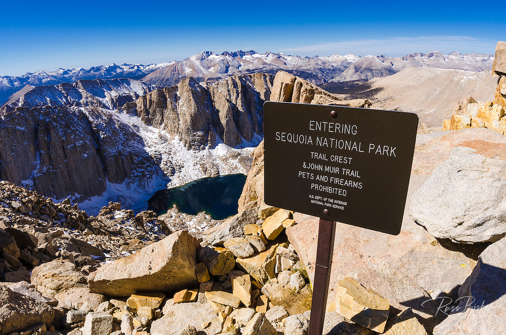 The Mount Whitney trail at Trail Crest, Sequoia National Park, Sierra Nevada Mountains, California USA