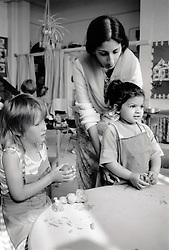 Nursery class Nottingham UK 1986