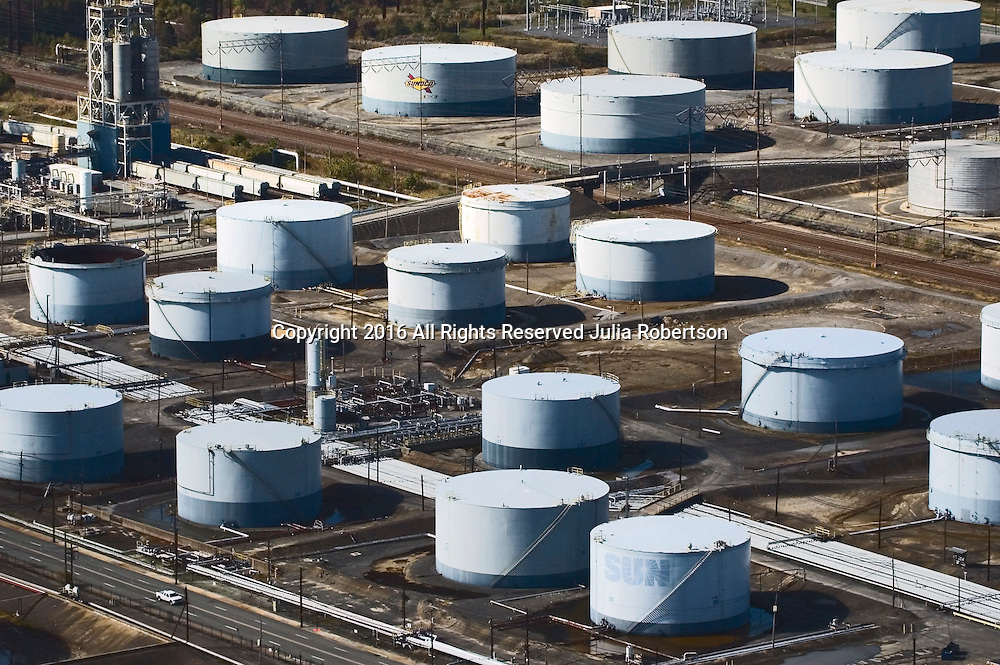 Aerial view of Sun Terminals, Chester, PA Petroleum Terminals