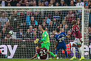 Bernard (Everton) scores a goal to give Everton the lead 0-2 during the Premier League match between West Ham United and Everton at the London Stadium, London, England on 30 March 2019.