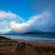 Wild weather at the beaches of South Arm Nature Reserve, Tasmania, Australia, Oceania