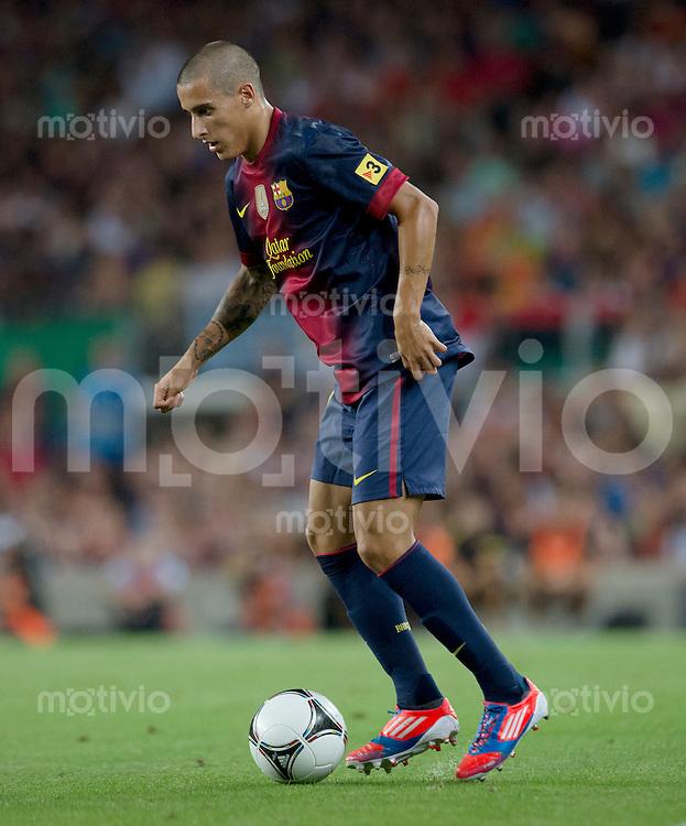 FUSSBALL  INTERNATIONAL  PRIMERA DIVISION  SAISON 2011/2012   23.08.2012 El Clasico  Super Cup 2012 FC Barcelona - Real Madrid  Cristian Tello (Barca) am Ball