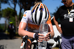 Anna van der Breggen catches her breath at Giro Rosa 2016 - Stage 6. A 118.6 km road race from Andora to Alassio, Italy on July 7th 2016.