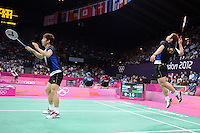 Chung JS and Lee YD, Korea, Mens Doubles, Olympic Badminton London Wembley 2012