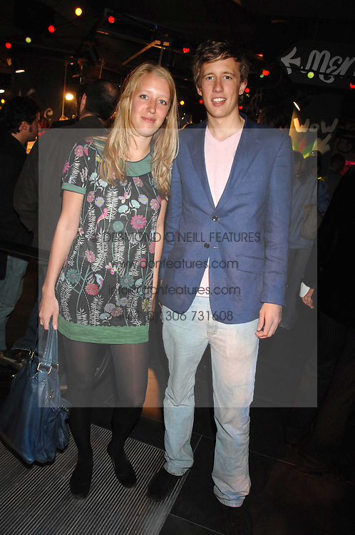 ALICE ROTHSCHILD and GEORGE FROST son of Sir David Frost at the launch of the Desigual flagship store at 222 Regent Street, London W1 on 28th June 2007.<br />