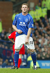 LIVERPOOL, ENGLAND - Saturday, April 19, 2003: Everton's Wayne Rooney during the Merseyside Derby Premiership match at Goodison Park. (Pic by David Rawcliffe/Propaganda)