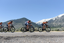 Boels Dolmans amass on the front before the foot of the climb at Amgen Breakaway from Heart Disease Women's Race empowered with SRAM (Tour of California) - Stage 2. A 108km road race in South Lake Tahoe, USA on 12th May 2017.
