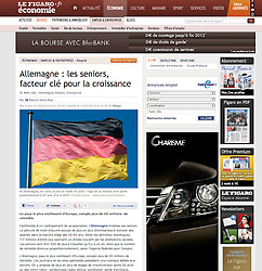 Le Figaro newspaper tearsheet; German flag