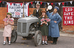 © Licensed to London News Pictures. 12/05/2018, Glastonbury, UK. Somerset Day celebrations at The Rural Life Museum, Glastonbury, Somerset. The Little Victory Ball Theatre Company pictured at Living History event recreating WW1 era. Photo credit: Jason Bryant/LNP