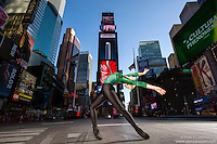Times Square New York City Dance As Art Photography Project with ballerina Mykaila Symes