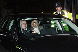 London, UK. 20th March, 2019. Margot James, Minister of State for Digital Policy at the Department for Digital, Culture, Media and Sport, leaves the House of Commons on the evening that Prime Minister Theresa May was meeting Opposition leaders to discuss extending Article 50 before travelling to Brussels tomorrow for an EU summit.