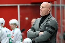 Bojan Zajc, head coach of Olimpija during ice hockey match between HDD SIJ Acroni Jesenice and HDD Olimpija Ljubljana in Final of Slovenian League 2016/17, on April 9, 2017 in Podmezaklja, Jesenice, Slovenia. Photo by Matic Klansek Velej / Sportida