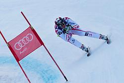 KITZBUHEL AUSTRIA. 22-01-2011. Michael Walchhofer (AUT) speeds down the course competing in the 71st Hahnenkamm downhill race part of  Audi FIS World Cup races in Kitzbuhel Austria.  Mandatory credit: Mitchell Gunn