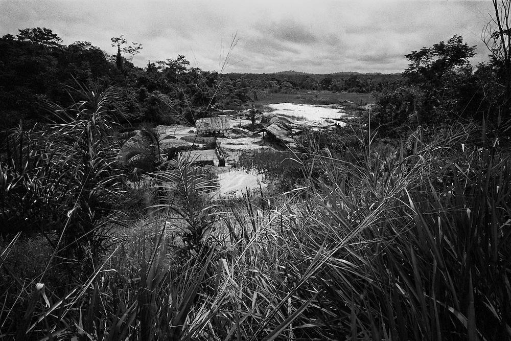 Brazil, Ressaca, rio Xingu, Para.<br /> <br /> Ressaca, colonie de garimpeiros.