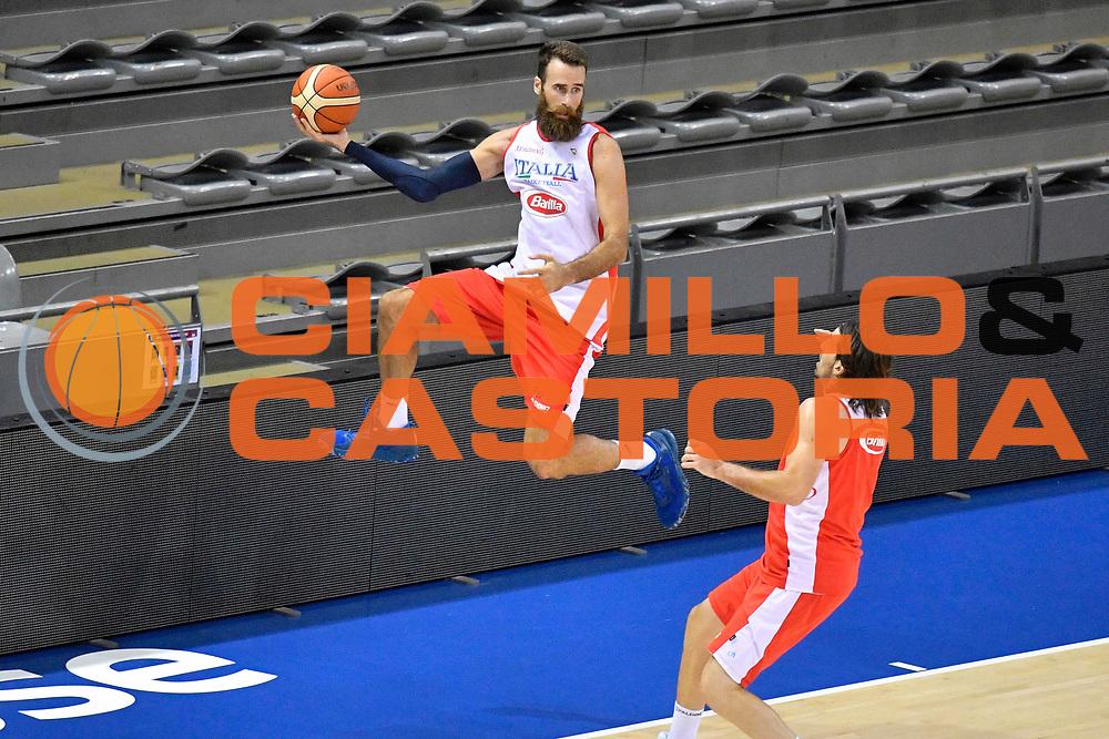 Luigi Datome<br /> Raduno Nazionale Maschile Senior<br /> Torneo di Tolosa - Allenamento<br /> Tolosa, 17/08/2017<br /> Foto GiulioCiamillo / Ciamillo-Castoria