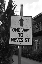 One Way to Nevis St., Antigua<br />