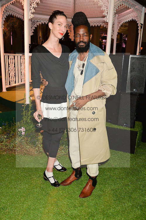 ERIN SALTMAN and ROY LUWOLT at an English Garden party to celebrate the re-launch of the Grosvenor House Hotel, Park Lane, London on 21st June 2016.