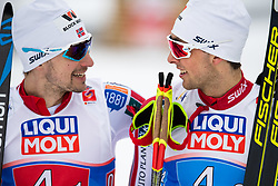 February 24, 2019 - Seefeld In Tirol, AUSTRIA - 190224 Jan Schmid and Jarl Magnus Riiber of Norway after  the men's nordic combined team sprint during the FIS Nordic World Ski Championships on February 24, 2019 in Seefeld in Tirol..Photo: Vegard Wivestad Grøtt / BILDBYRÃ…N / kod VG / 170297 (Credit Image: © Vegard Wivestad GrØTt/Bildbyran via ZUMA Press)