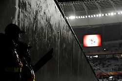 14.06.2010, Cape Town Stadium, Kapstadt, RSA, FIFA WM 2010, Italien vs Paraguay im Bild zwei Polizisten schauen aus den Katakomben ins Stadioninnere, EXPA Pictures © 2010, PhotoCredit: EXPA/ InsideFoto/ G. Perottino, ATTENTION! FOR AUSTRIA AND SLOVENIA ONLY!!! / SPORTIDA PHOTO AGENCY