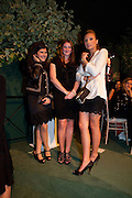 TALAR BILEMJIAN;  JESSICA -ROSE BURTON; CLARY ASPINALL;  The Ormeley dinner in aid of the Ecology Trust and the Aspinall Foundation. Ormeley Lodge. Richmond. London. 29 April 2009