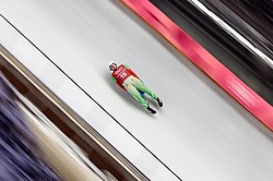 07.02.2018, Olympic Sliding Centre, Pyeongchang, KOR, PyeongChang 2018, Rodeln, Training, im Bild Pavel Angelov (BUL) // Pavel Angelov of Bulgaria during the Luge Training of the Pyeongchang 2018 Winter Olympic Games at the Olympic Sliding Centre in Pyeongchang, South Korea on 2018/02/07. EXPA Pictures © 2018, PhotoCredit: EXPA/ Johann Groder