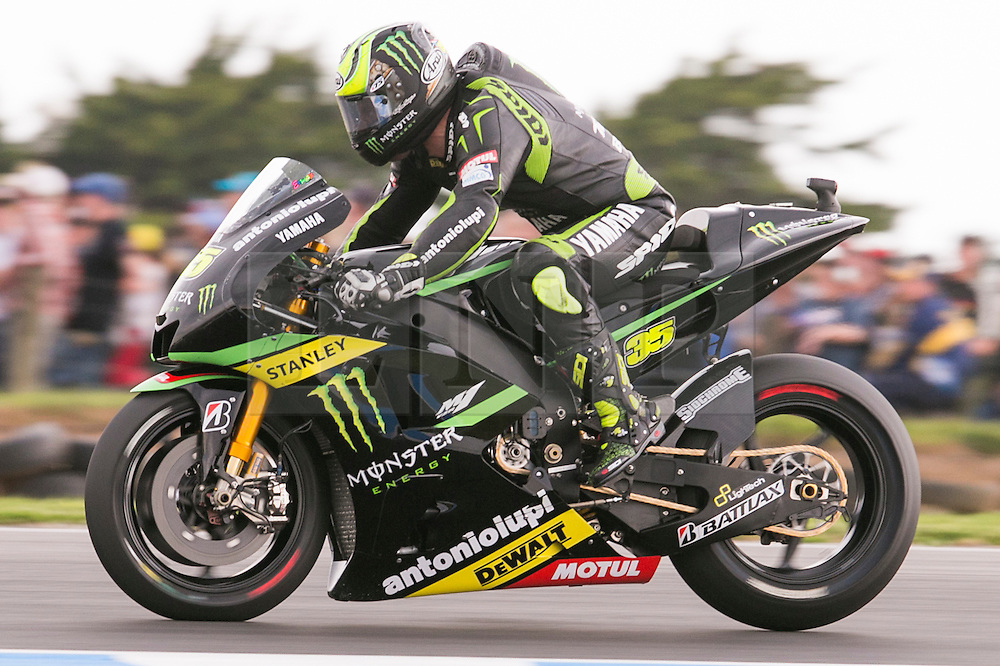© Licensed to London News Pictures. 20/10/2012. Cal Crutchlow (GBR) riding for the Monster Yamaha Tech 3 during the Race day of the round 16 2013 Tissot Australian Moto GP at the  Phillip Island Grand Prix Circuit Victoria, Australia. Photo credit : Asanka Brendon Ratnayake/LNP