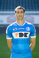 Gent's Abd Hatem Elhamed pictured during the 2015-2016 season photo shoot of Belgian first league soccer team KAA Gent, Saturday 11 July 2015 in Gent.