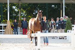 Jessica Michel, (FRA), Riwera de Hus - Horse Inspection Dressage - Alltech FEI World Equestrian Games™ 2014 - Normandy, France.<br /> © Hippo Foto Team - Leanjo de Koster<br /> 25/06/14