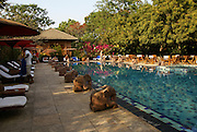 Myanmar, Bagan, hotel pool,