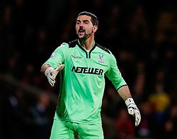 Julian Speroni of Crystal Palace looks on - Photo mandatory by-line: Rogan Thomson/JMP - 07966 386802 - 06/04/2015 - SPORT - FOOTBALL - London, England - Selhurst Park - Crystal Palace v Manchester City - Barclays Premier League.