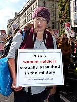 Women against rape march in Slut Walk, london 2012