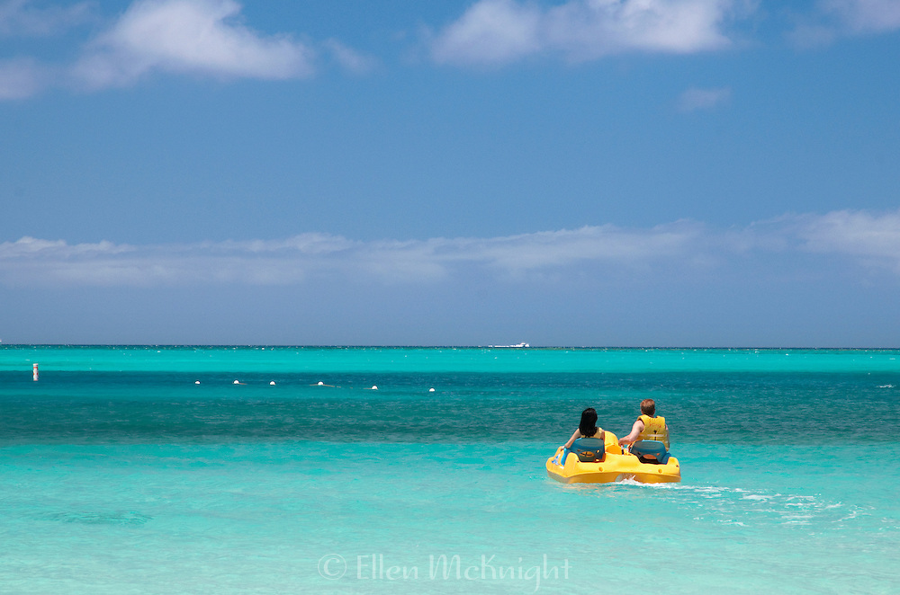 Pedalboating on Grace Bay at Providenciales, Turks and Caicos