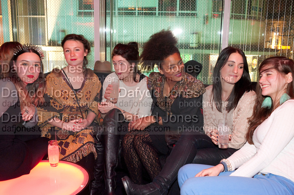 JULIA DIAS,CHARLIE GORDON; LUCY BUTLER; KANDICE HOLMES, ( SANDY BELLS)  The launch screening of ÔAnimal CharmÕ  and ÔSusie LovittÕ - W hotel leicester sq. London. 31 January 2012.<br /> JULIA DIAS,CHARLIE GORDON; LUCY BUTLER; KANDICE HOLMES, ( SANDY BELLS)  The launch screening of 'Animal Charm'  and 'Susie Lovitt' - W hotel leicester sq. London. 31 January 2012.