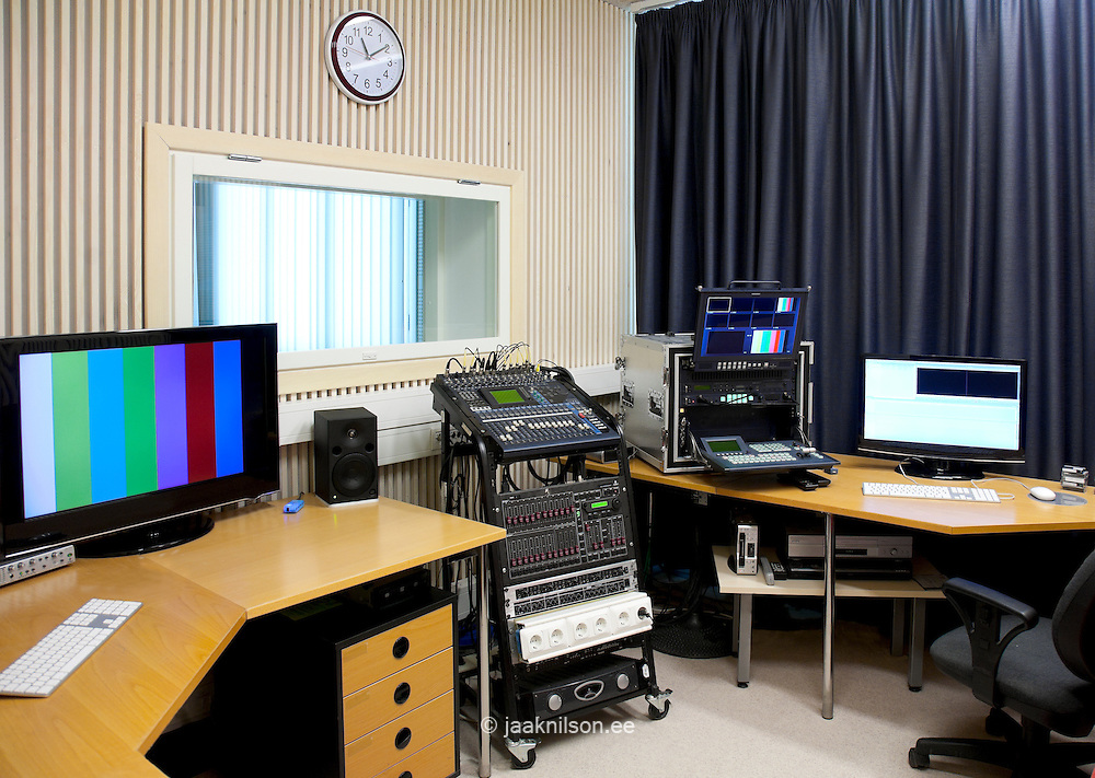 TV Studio for students in Tartu University, Estonia