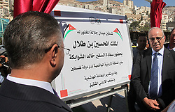 October 5, 2016 - Nablus, West Bank, Palestinian Territory - Jordanian Ambassador in Palestine Khalid al-Shawabkah opens Square of the late King Hussein Bin Talal, in the West Bank city of Nablus, on Oct. 05, 2016  (Credit Image: © Nedal Eshtayah/APA Images via ZUMA Wire)