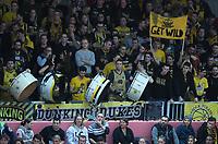 Basketball  1. Bundesliga  2017/2018  Hauptrunde  16. Spieltag  30.12.2017 Walter Tigers Tuebingen - MHP RIESEN Ludwigsburg Ludwigsburger Fans im Gaestefanblock der Paul Horn Arena