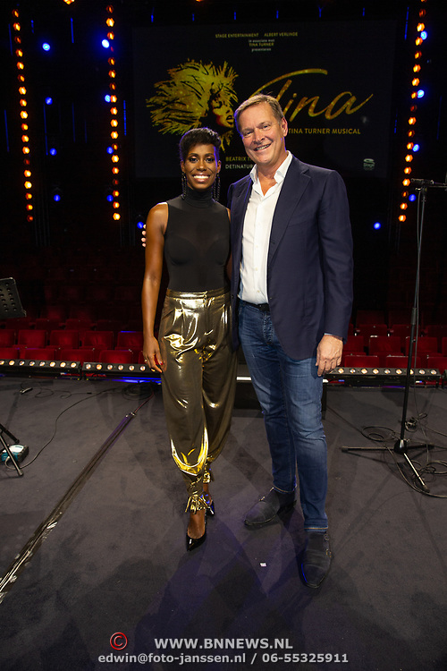 NLD/Utrecht/20191021 - Castpresentatie Tina Turner Musical, Nyassa Alberta en Albert Verlinde