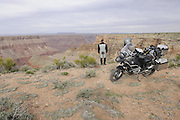 Bill Dragoo on BMW R1200 GS Adventure at the north rim of the Grand Canyon