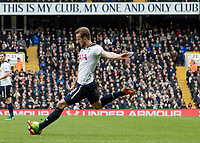 Football - 2016 / 2017 Premier League - Tottenham Hotspur vs. Stoke City<br /> <br /> Harry Kane of Tottenham prepares to strike his shot at White Hart Lane.<br /> <br /> COLORSPORT/DANIEL BEARHAM