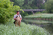 Fishing the Willow River, near Burkhardt, Wisconsin