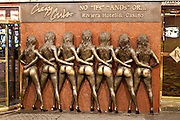 Crazy Girls Monument at the Riviera casino and resort in Las Vegas, NV.
